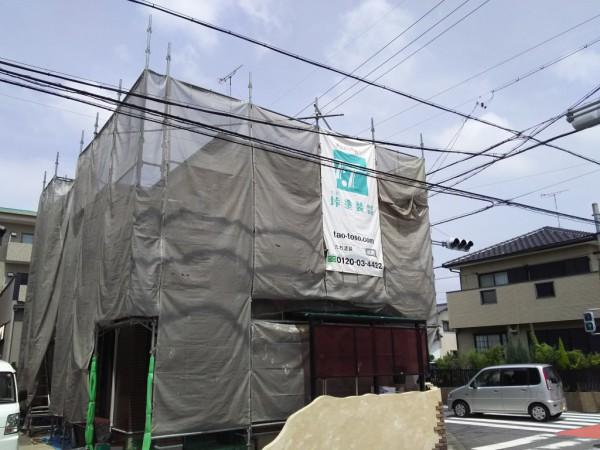 岡崎市O様 外壁塗装工事(中塗りと上塗りの差)